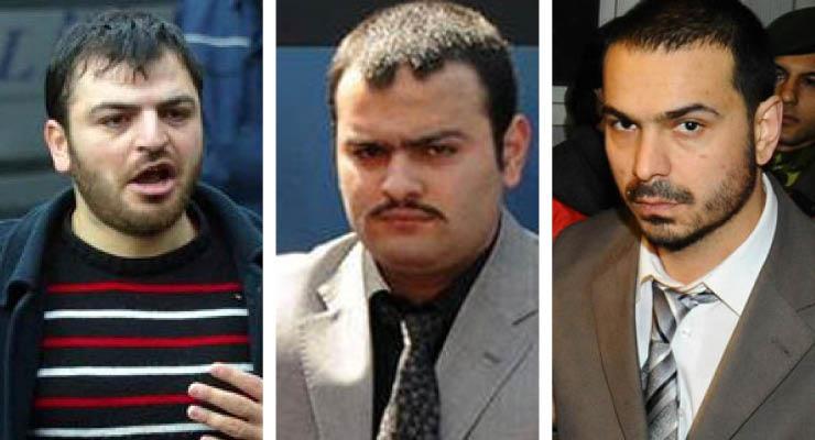 Yasin Hayal, Ogün Samast, Erhan Tuncel (soldan sağa).